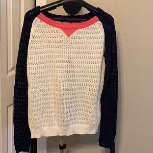 Sweater lightweight. Split back
